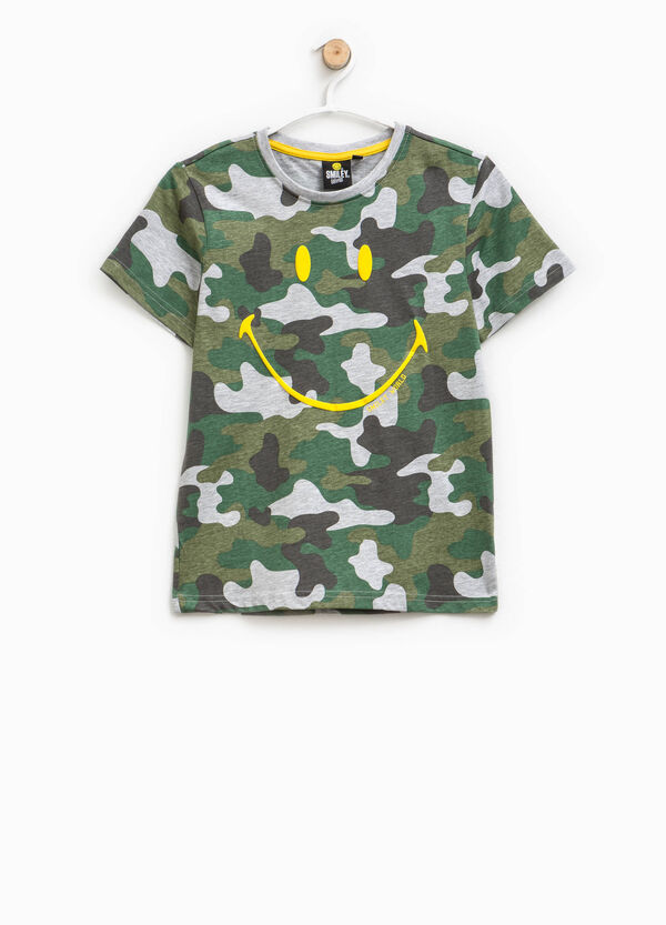 T-shirt camouflage stampa Smiley | OVS