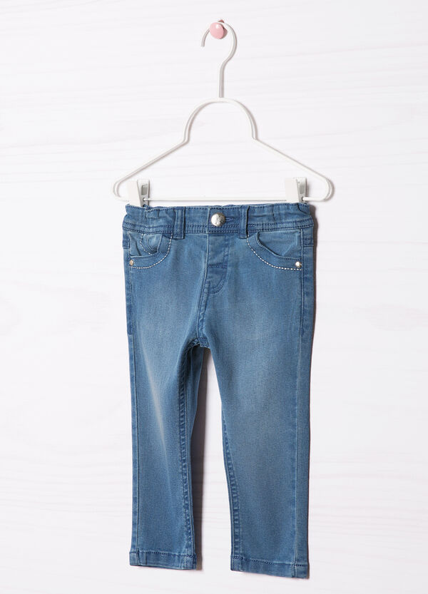 Faded effect stretch jeans | OVS