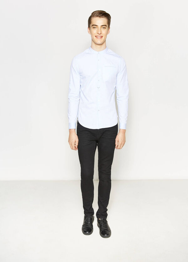 Cotton, slim-fit casual shirt | OVS