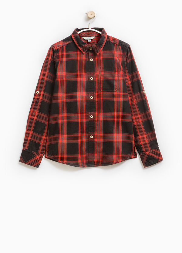 Check cotton shirt with long sleeves | OVS