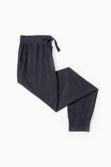 Cotton pyjama trousers, Black, hi-res