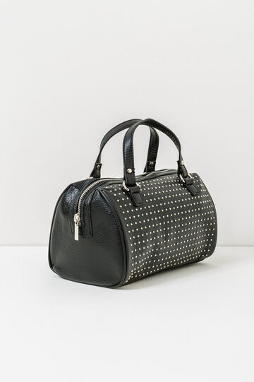 Boston bag with handles and studs, Black, hi-res