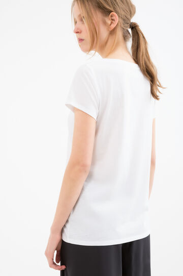 Cotton blend printed T-shirt, White, hi-res