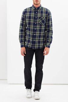 Camicia G&H a quadri, Blu/Verde, hi-res