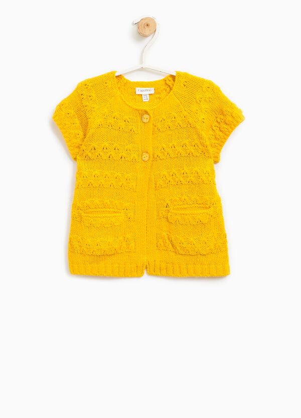 Knitted cardigan with short sleeves | OVS