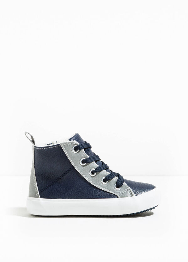 High-top sneakers with laces and zip | OVS