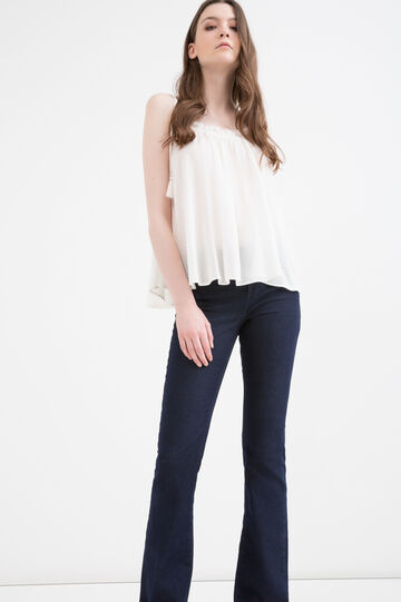 Solid colour top in 100% viscose with insert, White, hi-res
