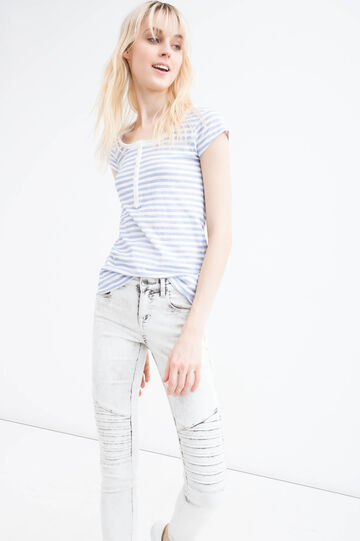 Mis-dyed, stretch skinny-fit jeans, Light Grey, hi-res