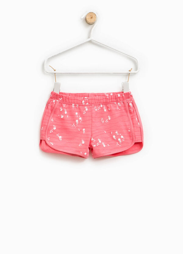 Printed shorts in stretch cotton | OVS