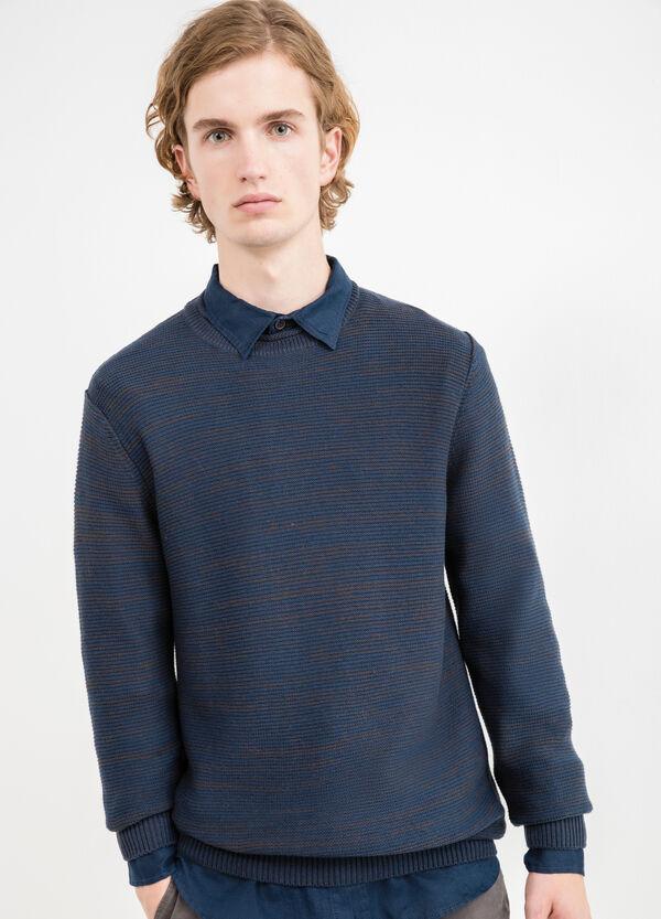 Solid colour cotton blend pullover | OVS