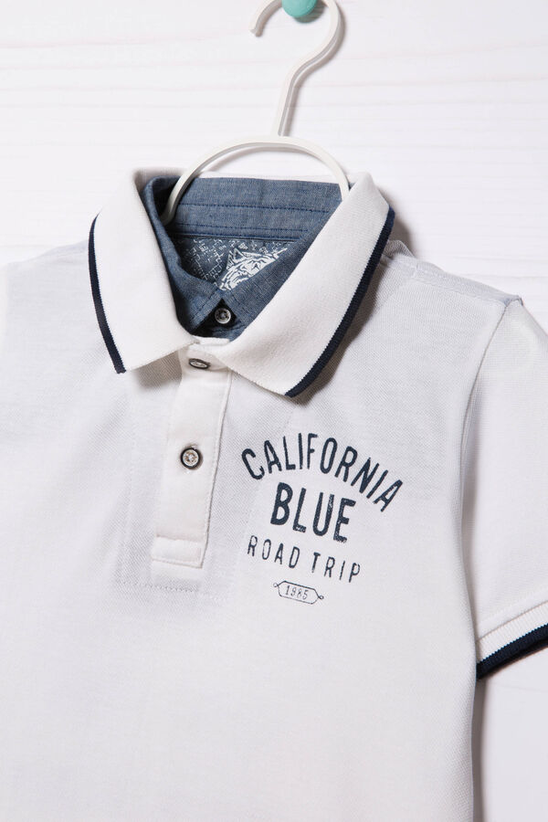 100% cotton polo shirt with insert   OVS