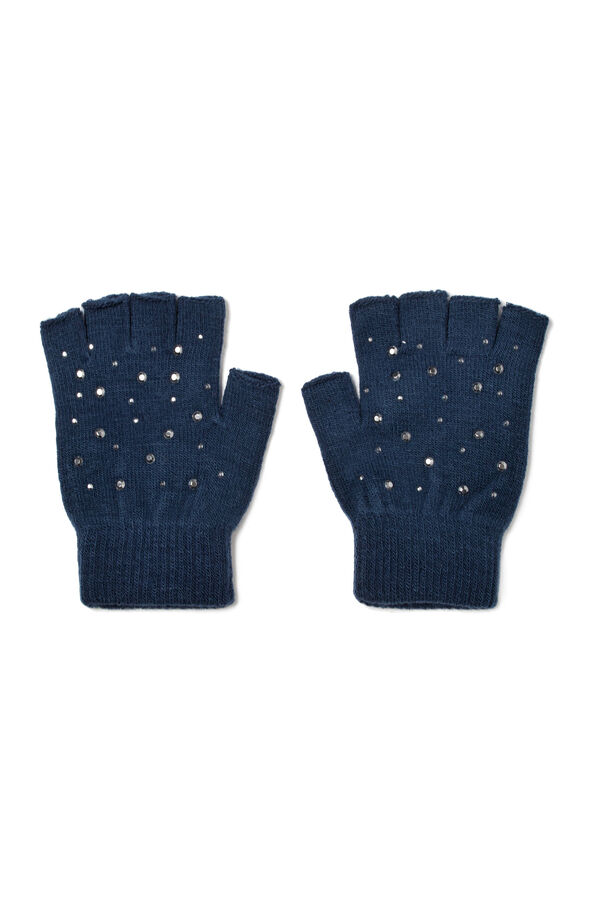 Fingerless diamanté gloves | OVS