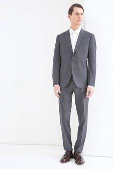 Elegant suit in viscose blend, Grey, hi-res