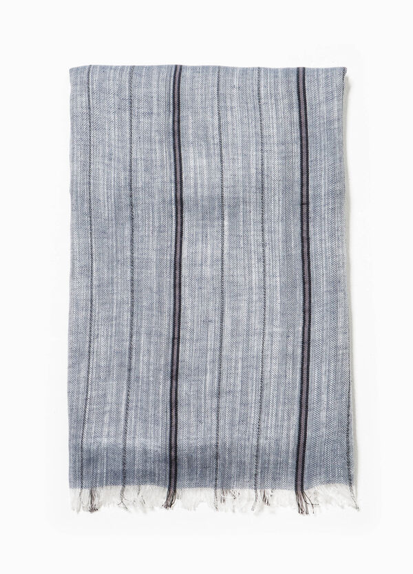 Scarf with striped fringe | OVS