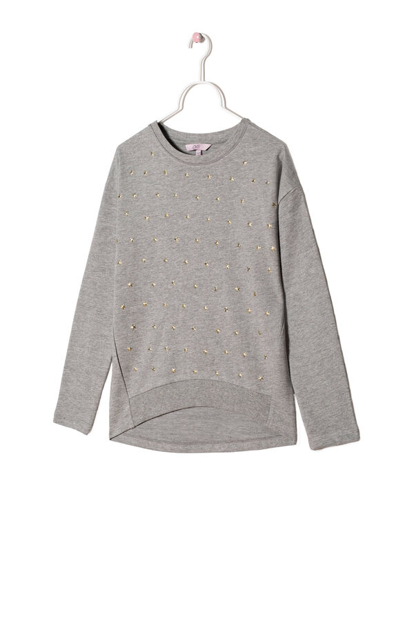 Rhinestone sweatshirt in 100% cotton | OVS