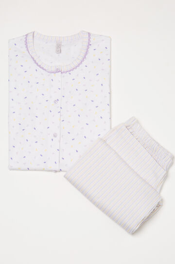 100% cotton printed pyjamas, White, hi-res