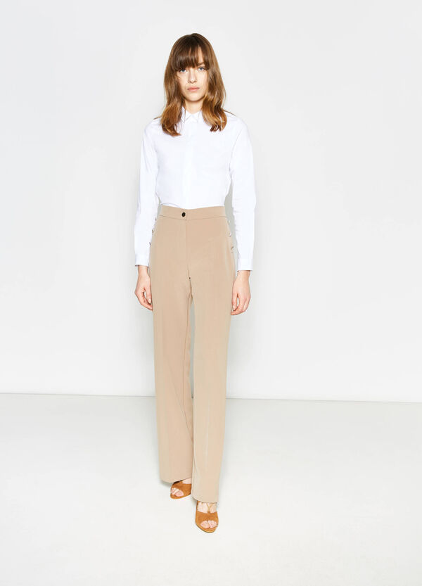 Elegant trousers with high waist band | OVS