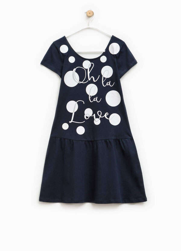 Short-sleeved dress with print | OVS