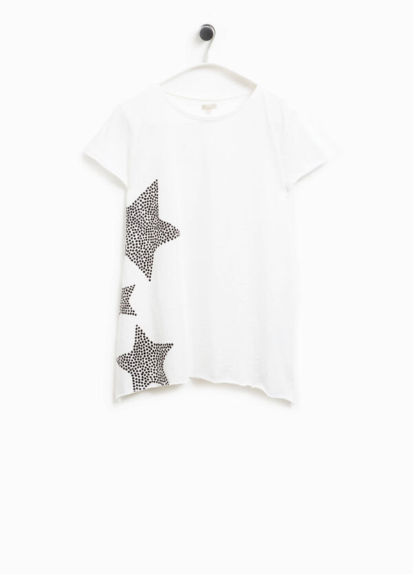 Smart Basic cotton T-shirt with print | OVS