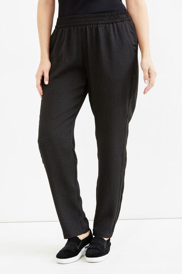 Pantaloni con vita elasticata Curvy, Nero, hi-res