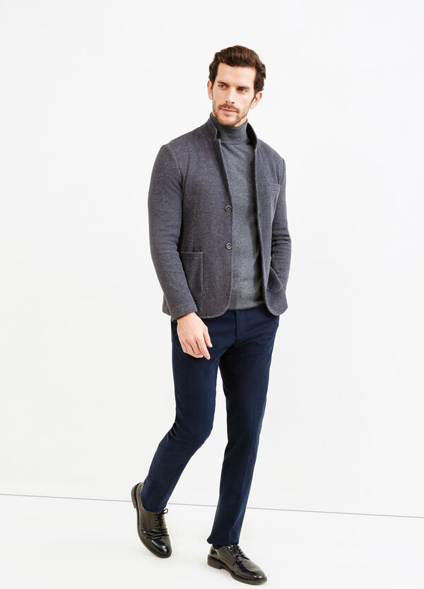 Cotton blend jacket with two buttons | OVS