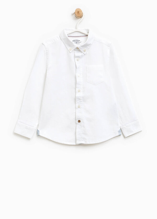 Shirt with button down collar | OVS