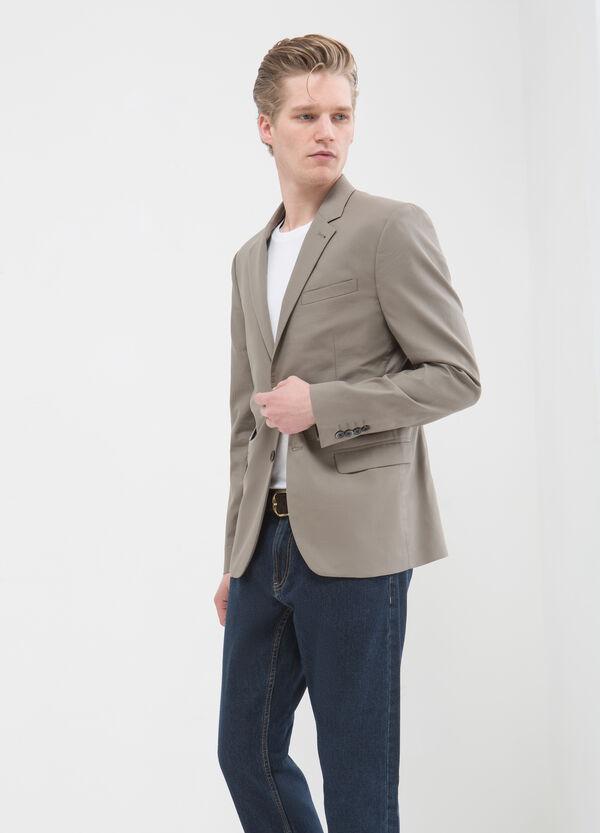 Slim-fit jacket in 100% cotton | OVS