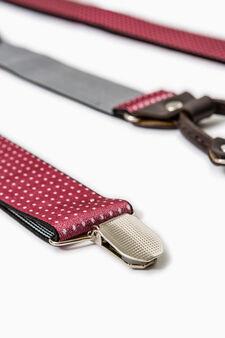Bretelle regolabili con clip, Rosso bordeaux, hi-res