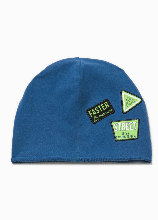 Beanie cap with patches | OVS