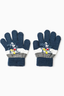 Guanti a righe stampa Mickey Mouse, Blu, hi-res