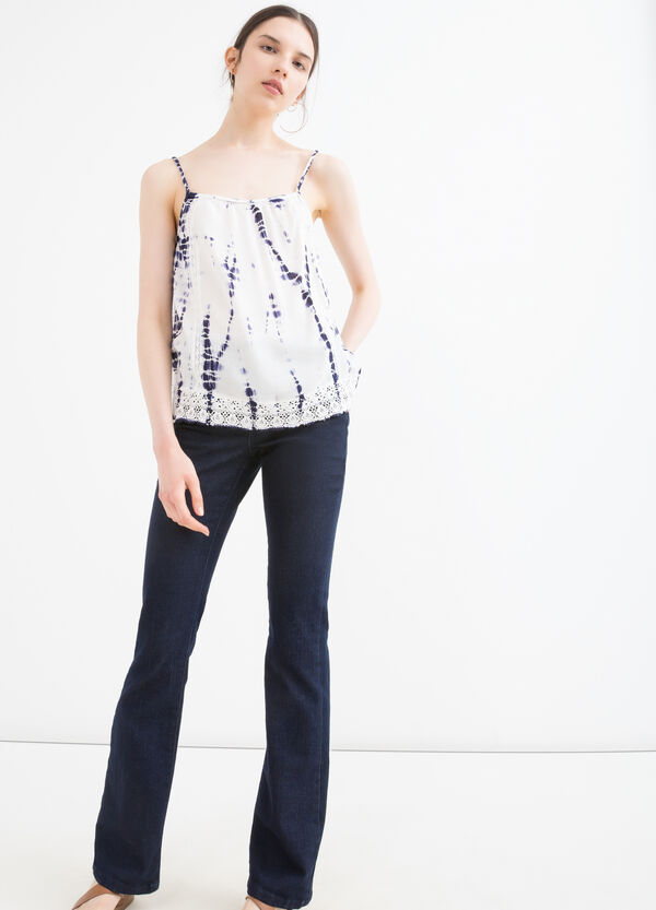 100% viscose top with pattern   OVS