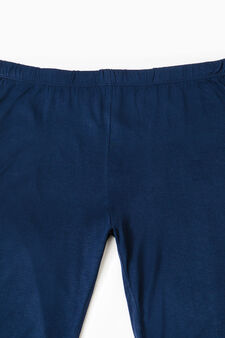 Solid colour viscose pyjama trousers, Navy Blue, hi-res