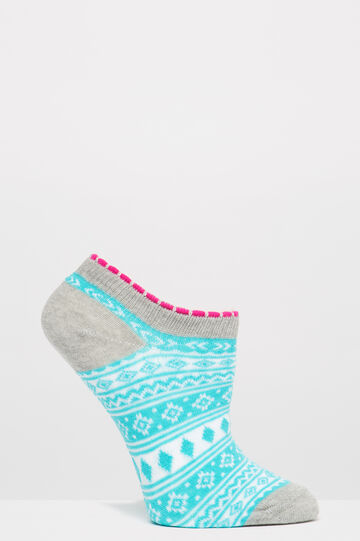 Two-pack socks with contrasting pattern, Multicolour, hi-res