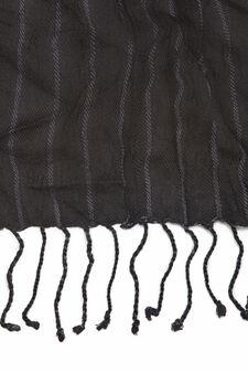100% viscose scarf, Black, hi-res