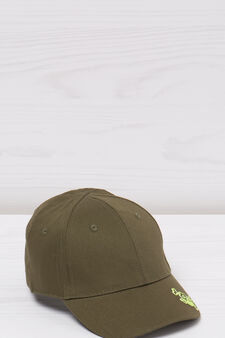 Embroidered cotton baseball cap, Green, hi-res