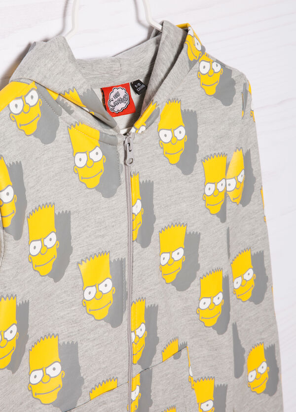 Cotton hoodie with The Simpsons print | OVS