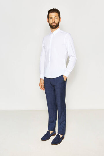 Slim-fit casual shirt in cotton