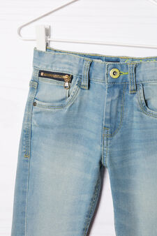 Slim fit, worn-effect jeans, Light Wash, hi-res