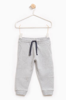 Cotton joggers with drawstring, Light Grey, hi-res