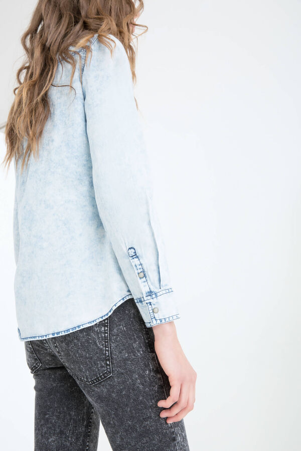 Camicia di jeans cuciture contrasto | OVS