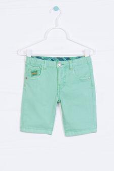 Bermuda shorts in 100% cotton, Green, hi-res