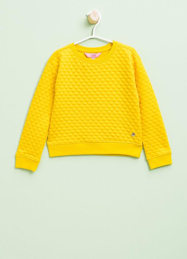 Stretch sweatshirt with shiny insert | OVS