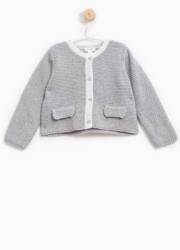 Knitted pullover with faux pockets | OVS