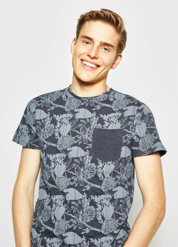 Floral T-shirt with pocket   OVS