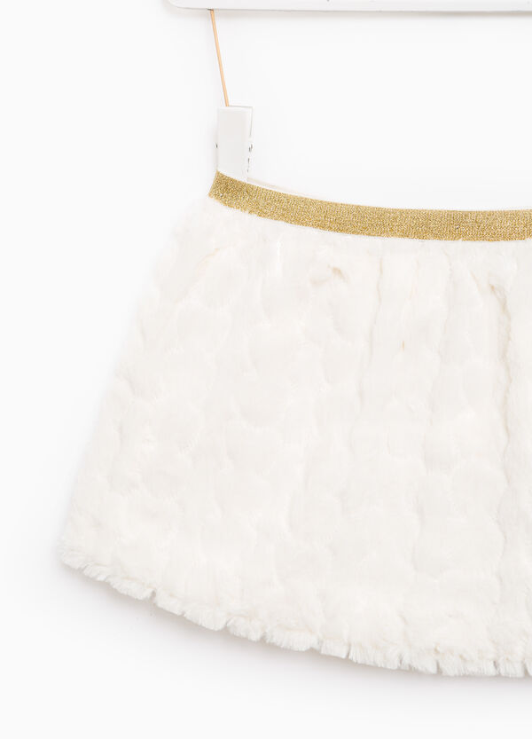 Skirt in faux fur with raised weave | OVS