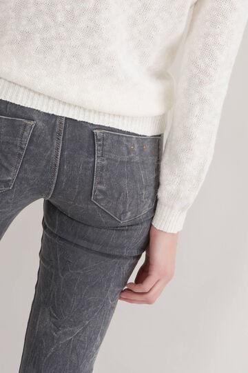 Misdyed, skinny-fit stretch jeggings, Grey, hi-res