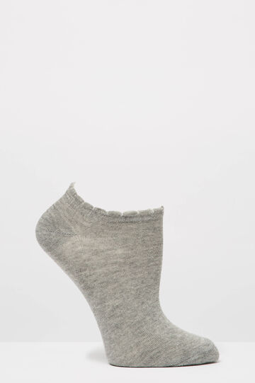 Two-pair pack solid colour socks, Grey/Green, hi-res