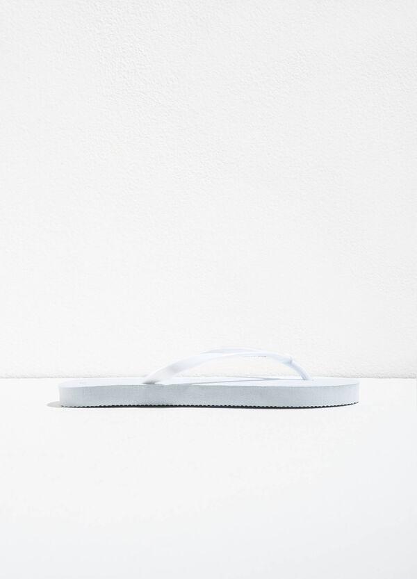 Rubber flip flops with flower | OVS