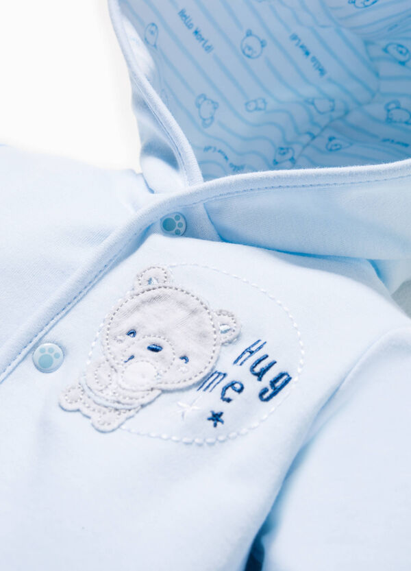 Cotton jacket with animal patch | OVS