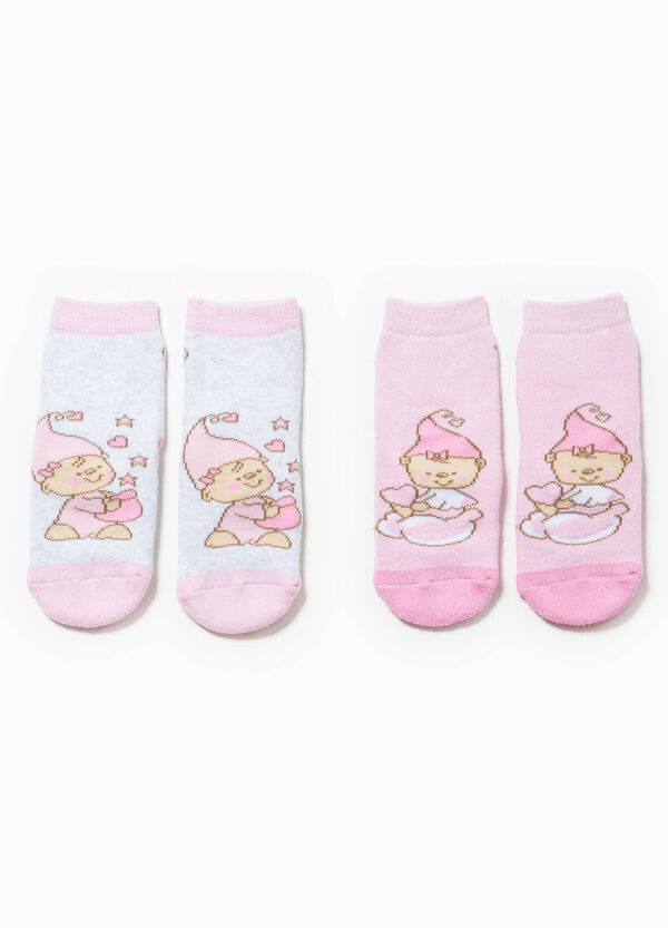 Set due paia di calze con ricami | OVS